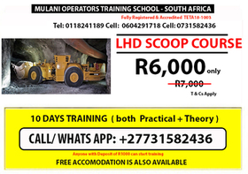 LHD SCOOP Operator training Course | WhatsApp: +27731582436